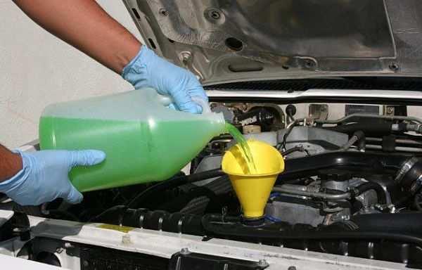 очистка системы охлаждения двигател