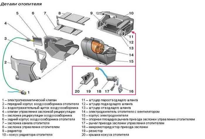 схема печки ВАЗ-21099