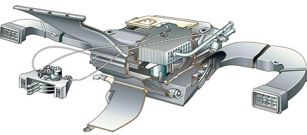 схема установки радиатора печка ВАЗ 2107