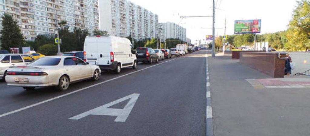 Штраф за полосу для общественного транспорта (автобусная полоса)