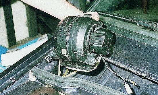 извлекаем корпус вентилятора
