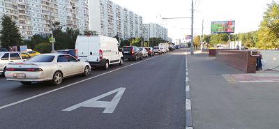 разметка выделенной полосы дляобщественного транспорта