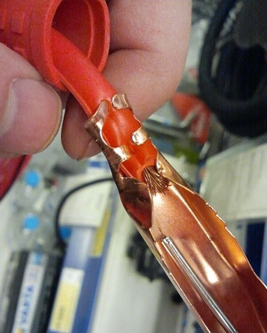 присоединение кабеля