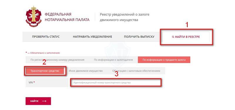 сайт реестра залогов