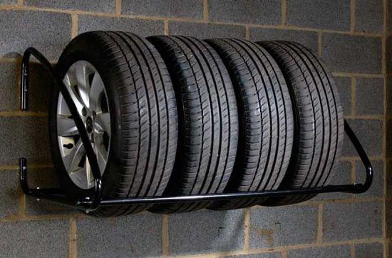 shiny na stellazhe opt - Хранение летних колес зимой