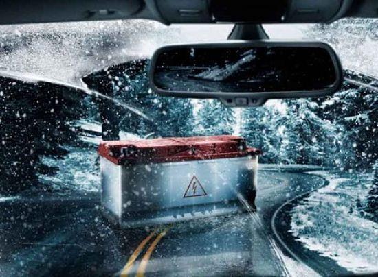 замерзший аккумулятор в машине