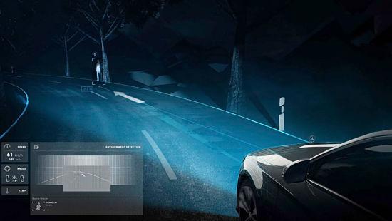 система умного света при освещение обочины дороги